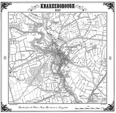 Knaresborough 1849 Map - Heritage Cartography Victorian Town Map Series (Sheet map, folded)