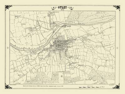 Otley 1851 Map - Heritage Cartography Victorian Town Map Series (Sheet map, folded)