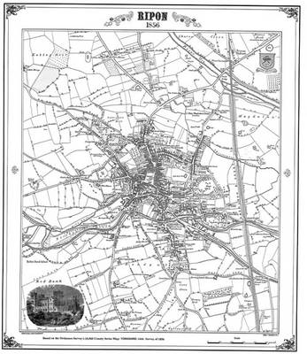 Ripon 1856 Map - Heritage Cartography Victorian Town Map Series (Sheet map, folded)