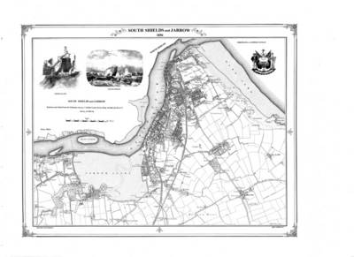 South Shields 1856 Map - Heritage Cartography Victorian Town Map Series (Sheet map, folded)