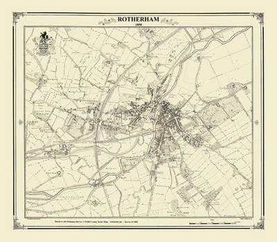 Rotherham 1850 - Heritage Cartography Victorian Town Map Series (Hardback)