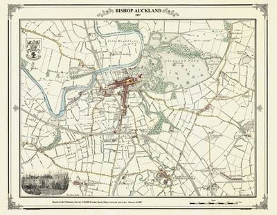 Bishop Auckland 185 Coloured - Heritage Cartography Victorian Town Map Series (Hardback)