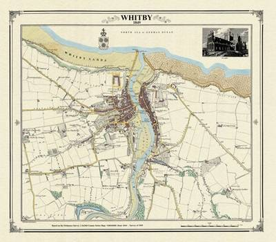 Whitby 1849 Map - Heritage Cartography Victorian Town Map Series (Sheet map, folded)