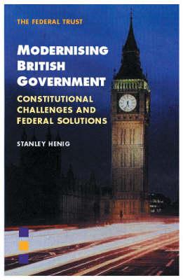 Modernising British Government (Paperback)