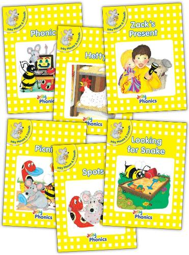 Jolly Phonics Readers, Inky & Friends, Level 2: in Precursive Letters (British English edition) - Jolly Phonics Readers, Complete Set Level 2 (Paperback)