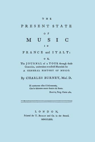 The Present State of Music in France and Italy (Paperback)