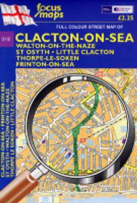 Full Colour Street Map of Clacton: Clacton-on-Sea,Walton-on-the-maze,St Osyth,Little Clacton,Thorpe-le-soken,Frinton-on-Sea
