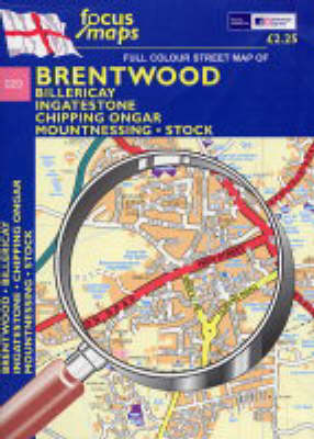 Full Colour Street Map of Brentwood: Billericay - Ingatestone - Chipping Ongar - Mountnessing - Stock (Sheet map, folded)