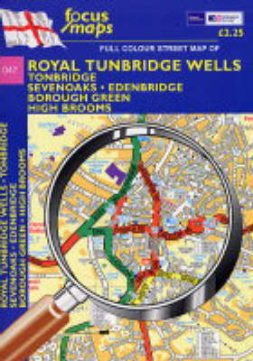 Full Colour Street Map of Royal Tunbridge Wells: Tonbridge - Sevenoaks - Edenbridge Borough Green - High Brooms (Sheet map, folded)