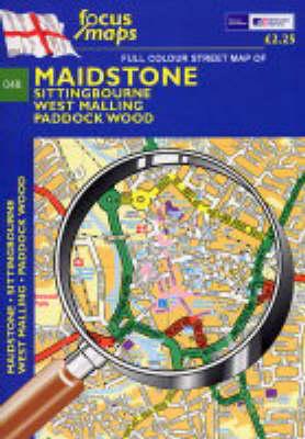 Full Colour Street Map of Maidstone: Sitting Bourne - West Malling - Paddock Wood (Sheet map, folded)