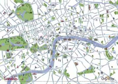 London Children's Wall Map (Sheet map)