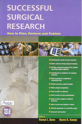 Successful Surgical Research: How to Plan, Perform and Publish (Paperback)