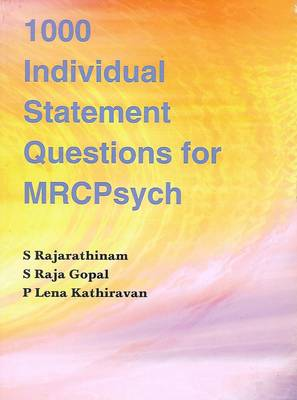 1000 Individual Statement Questions for MRCPsych (Paperback)