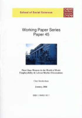 First Clan Women in the World of Work: Employability & Labour Market Orientation - Working Paper S. 45 (Paperback)