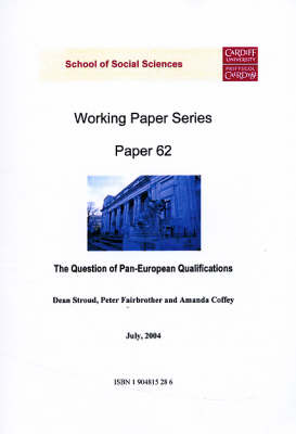 The Question of Pan-European Qualifications - Working Paper Series No.62 (Paperback)