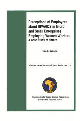 Perceptions of Employers About HIV/AIDS in Micro and Small Enterprises Employing Women Workers: A Case Study of Harare (Paperback)