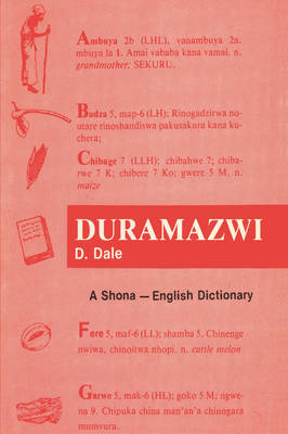 Duramazwi: A Shona-English Dictionary (Paperback)