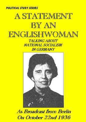 A Statement by a Woman About National Socialist Germany (Paperback)