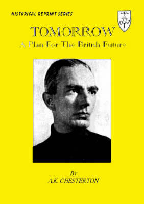 Tomorrow: A Plan for the British Future (Paperback)