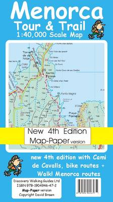 Menorca Tour and Trail Map Map-Paper Version - Tour & Trail Maps (Sheet map, folded)