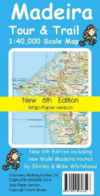 Madeira Tour and Trail Map -paper Version - Tour & Trail Maps (Sheet map, folded)
