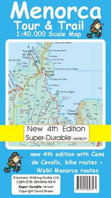 Menorca Tour and Trail Map Super-durable Version - Tour & Trail Maps (Sheet map, folded)