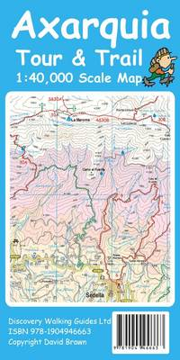 Axarquia (Costa Del Sol) Tour & Trail Map - Tour & Trail Maps (Sheet map, folded)
