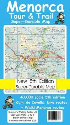 Menorca Tour & Trail Super-durable Map (Sheet map, folded)