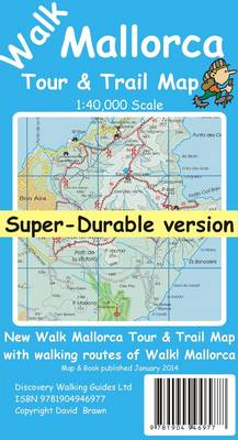 Walk Mallorca (North & Mountains) Tour & Trail Super-Durable Map (Sheet map, folded)