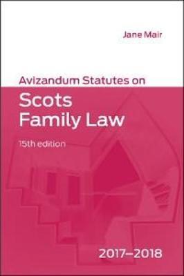 Avizandum Statutes on Scots Family Law (Paperback)