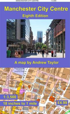 Manchester City Centre Map by Andrew Taylor Waterstones