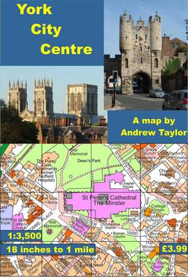 York City Centre Map: 18 Inches to 1 Mile - City Centre Maps (Sheet map, folded)