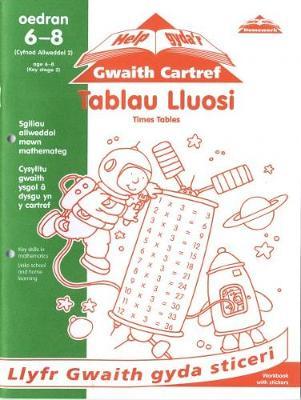 Tablau Lluosi: Times Table - Cyfres Help Gyda'r Gwaith Cartref/ Help with Homework Series (Paperback)