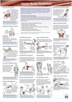 Stretching Charts (Lower Body, Upper Body, Neck, Back and Core) (Poster)