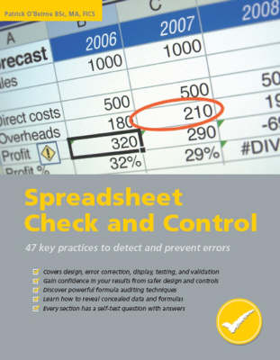 Spreadsheet Check and Control: 47 Key Practices to Detect and Prevent Errors (Paperback)