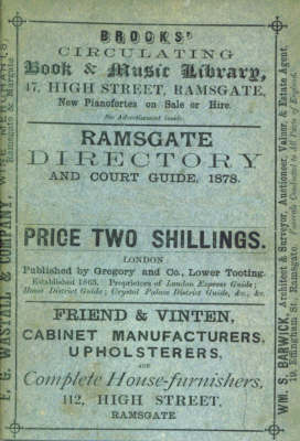 Ramsgate Directory and Court Guide, 1878 (Paperback)