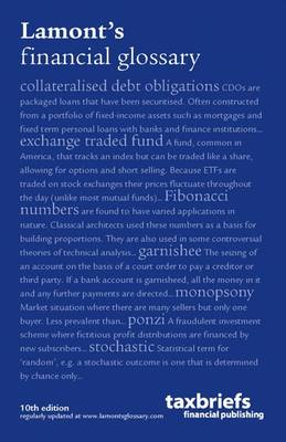 Lamonts Financial Glossary (Paperback)