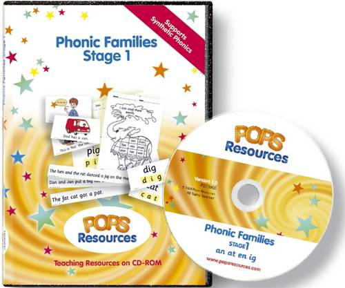 POPS Phonic Families Stage 1 - POPS Phonic Families Series No. 1 (CD-ROM)