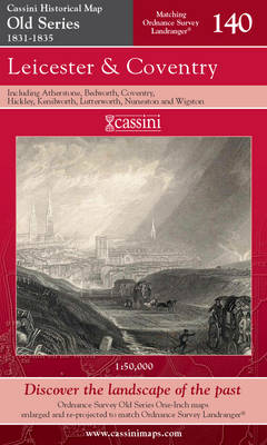 Leicester, Coventry & Rugby - Cassini Old Series Historical Map No. 140 (Sheet map, folded)
