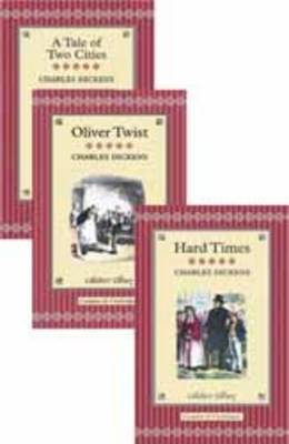 """Charles Dickens: """"Oliver Twist"""", """"A Tale of Two Cities"""" and """"Hard Times"""" - Collector's Library Cases (Hardback)"""
