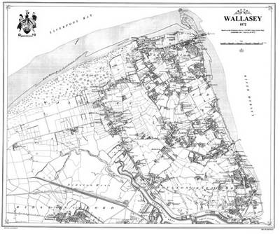 Wallasey 1872 Map - Heritage Cartography Victorian Town Map Series (Sheet map, folded)