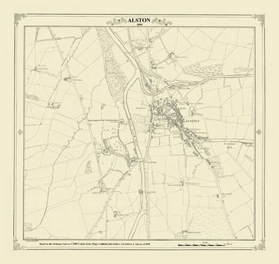 Alston 1859 Map - Heritage Cartography Victorian Town Map Series (Sheet map, folded)
