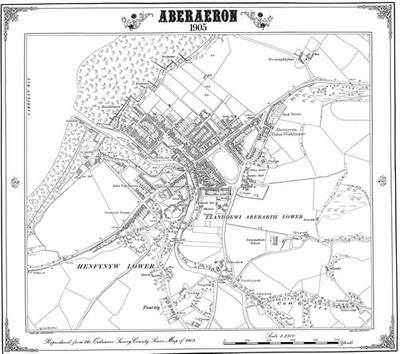 Aberaeron 1905 Map - Heritage Cartography Victorian Town Map Series (Sheet map, folded)