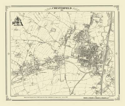 Chesterfield 1881 Map - Heritage Cartography Victorian Town Map Series No. 106 (Sheet map, folded)