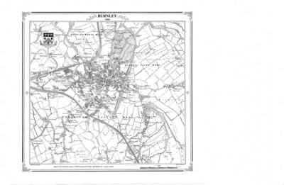 Burnley 1848 Map - Heritage Cartography Victorian Town Map Series (Sheet map, folded)