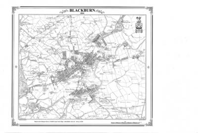 Blackburn 1844 Map - Heritage Cartography Victorian Town Map Series No. 116 (Sheet map, folded)