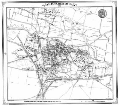 Dorchester 1886 Map - Heritage Cartography Victorian Town Map Series No. 119 (Sheet map, folded)