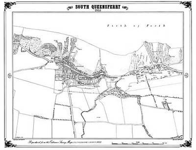 South Queensferry 1855 Map - Heritage Cartography Victorian Town Map Series No. 125 (Sheet map, folded)