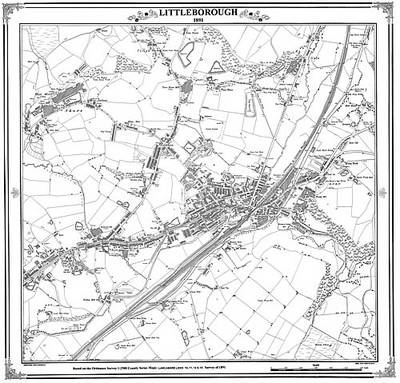 Littleborough 1891 Map - Heritage Cartography Victorian Town Map Series No. 126 (Sheet map, folded)