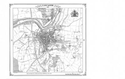 Lancaster 1845 Map - Heritage Cartography Victorian Town Map Series No. 128 (Sheet map, folded)